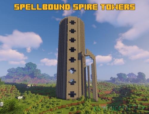 Spellbound Spire Towers - башни с мобами и сундуками [1.15.2] [1.14.4] [1.12.2]