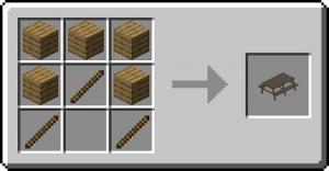 Benched - стол для пикников [1.17.1] [1.16.5] [1.15.2] [1.12.2]