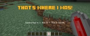 That's Where I Was! - простой телепорт с помощью камня [1.16.4]