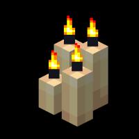 4 горящие свечи