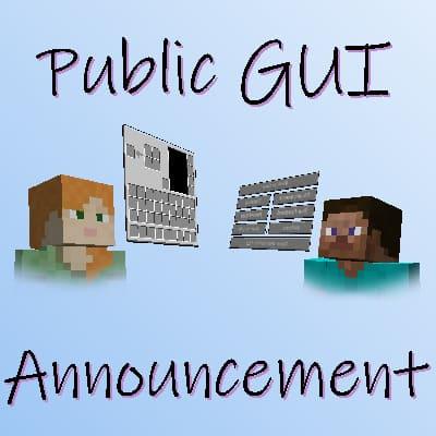 Public Gui Announcement - показ интерфейса игрока [1.17.1] [1.16.5] [1.15.2] [1.14.4]