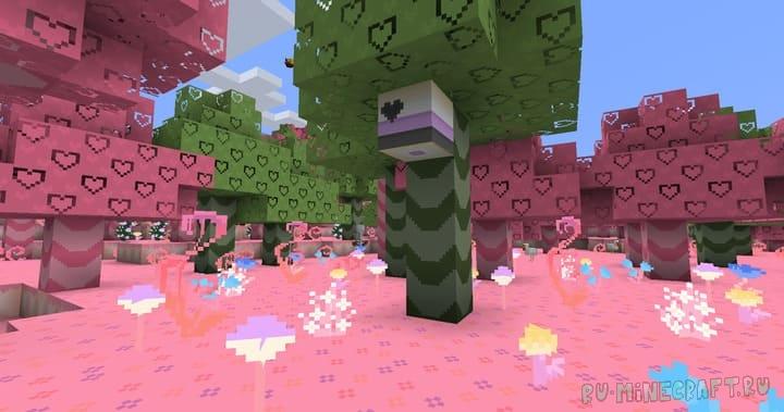 UnstableMysterys Cute Colours - розовый мультяшный мир [1.16.4] [1.15.2] [16x]