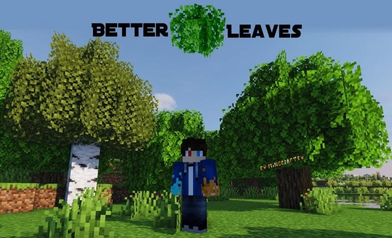 Motschen's Better Leaves - красивая, реалистичная листва деревьев [1.17] [1.16.4] [1.15.2] [1.14.4] [16x]