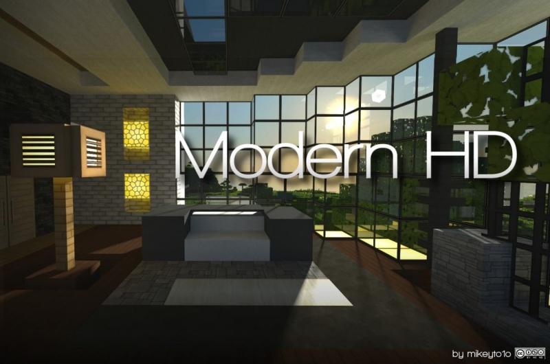 Modern HD - текстуры в стиле модерн [1.13.2] [1.12.2] [1.8.9] [1.7.10] [64x]