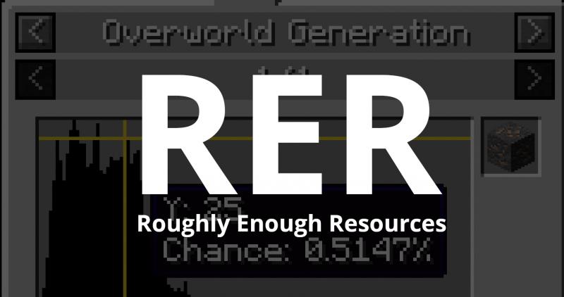 Roughly Enough Resources - дроп с мобов, блоков, информация о генерации [1.17.1] [1.16.5] [1.15.2] [1.14.4]