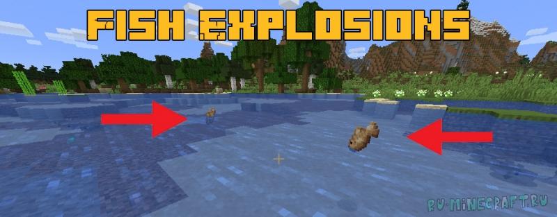 Fish Explosions - глушим рыбу [1.16.5]