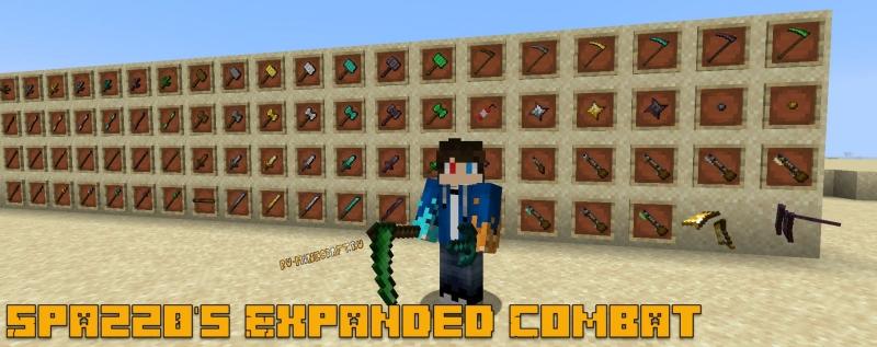 Spazz0's Expanded Combat - новое оружие [1.16.5]