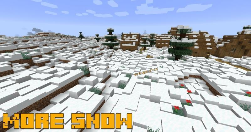 More Snow - снег накапливается, сугробы [1.16.5]