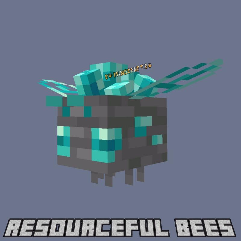 Resourceful Bees - пчелы для производства ресурсов [1.16.5] [1.15.2]