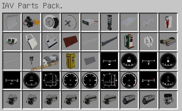IAV Parts pack - пак запчастей [1.12.2]