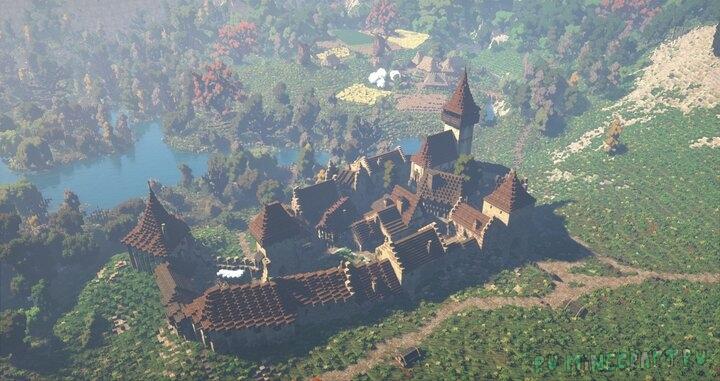Fortified Medieval Town - проработанный средневековый город [1.12.2]