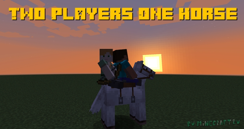 Two Players One Horse - два игрока на одной лошади [1.16.5]