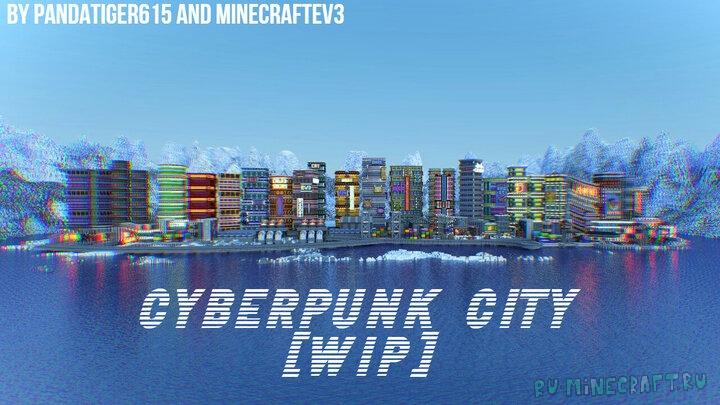 Cyberpunk City - город в стиле киберпанка [1.16.4]