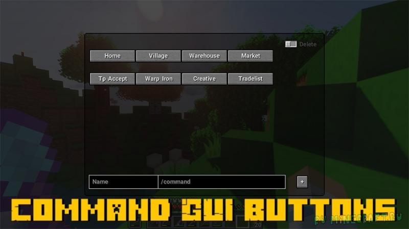 Command GUI Buttons - чат команды в отдельном меню [1.16.5]