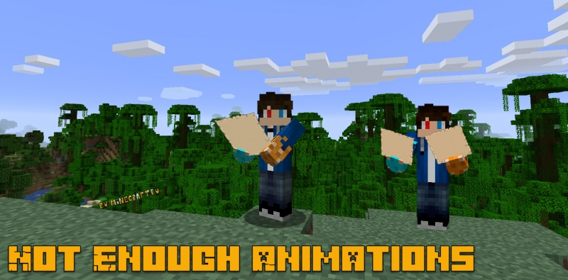 Not Enough Animations - улучшенные анимации [1.17] [1.16.5]