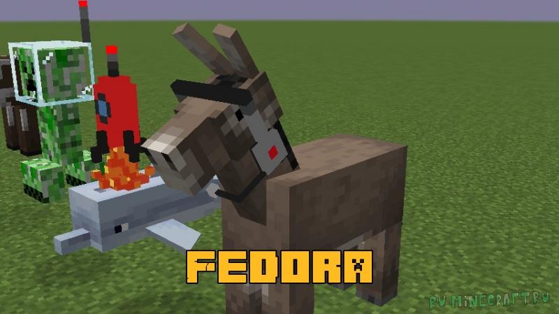 Fedora - шляпы для игрока и мобов [1.16.5]