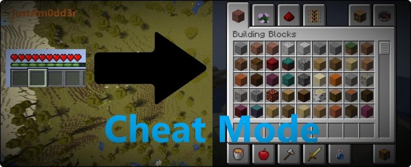 Cheat Mode - креатив меню в инвентаре выживания [1.16.5]