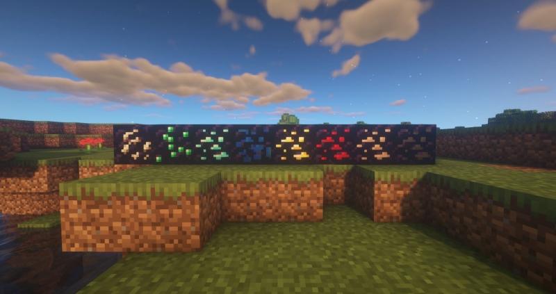 Obsidian Ores - руды в блоках обсидиана [1.16.5] [1.15.2]