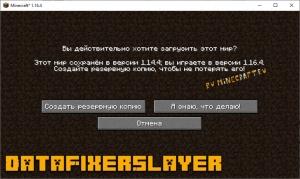DataFixerSlayer - немного оптимизации и экономии ОЗУ [1.16.5]
