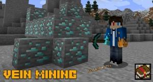 Vein Mining - добыча скоплений руд и блоков [1.17] [1.16.5]