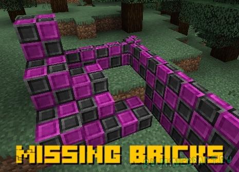 Missing Bricks - блоки с отсутствующими текстурами [1.16.5]