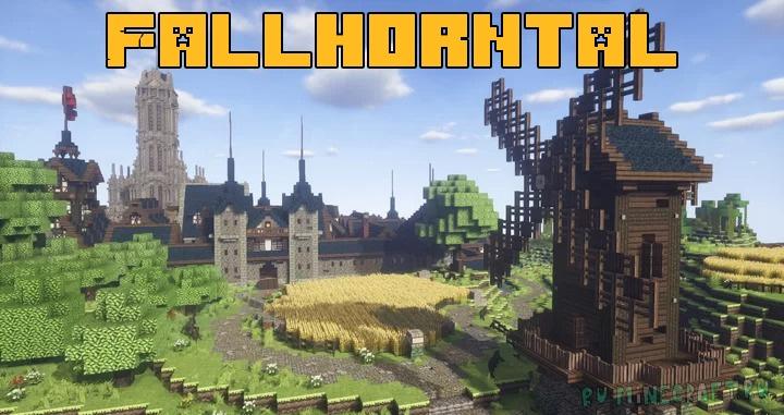 Fallhorntal - фэнтезийный город [1.16.5] [1.10.2]