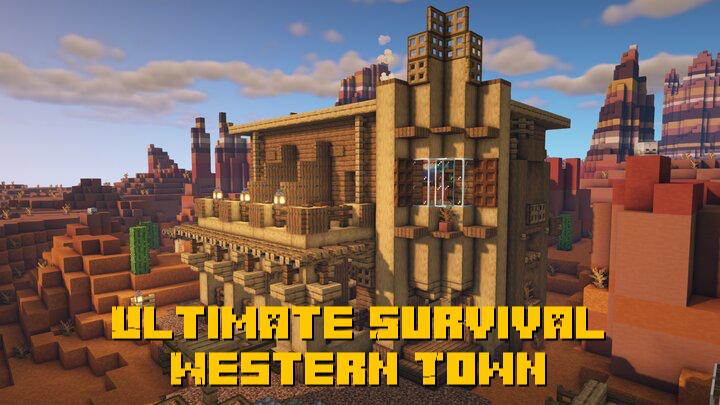 Ultimate Survival Western Town - город в стиле фильмов дикого запада [1.16.5]