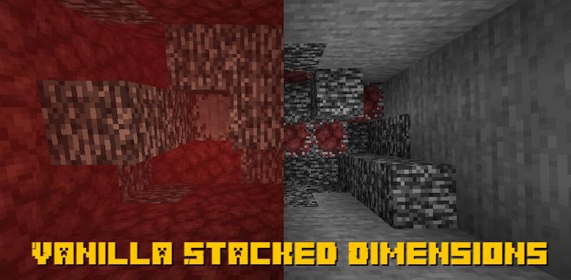 Vanilla Stacked Dimensions - переход в другие измерения без порталов [1.16.5]