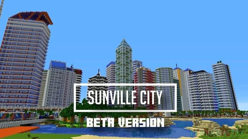 Sunville City - небольшой проработанный город [1.17] [1.16.5]