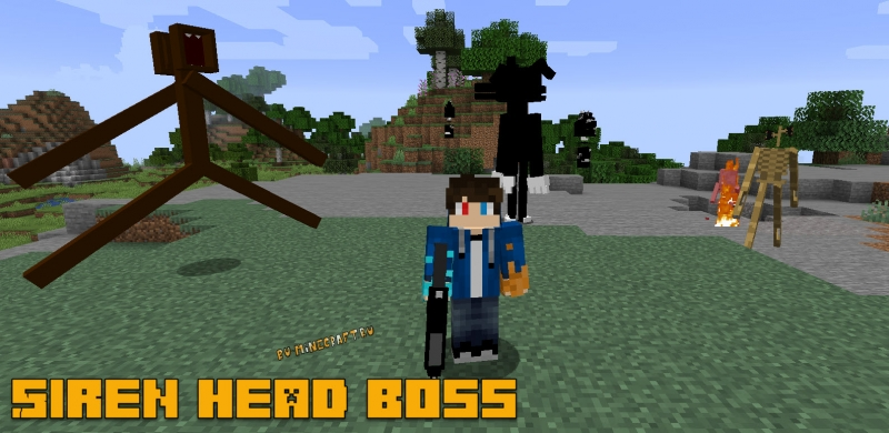 Siren head boss mob - сиреноголовый босс [1.16.5] [1.15.2] [1.12.2]
