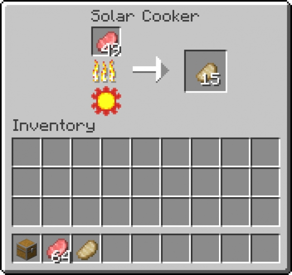 Solar Cooker - готовка еды на солнце, солнечная печь [1.16.5] [1.15.2]