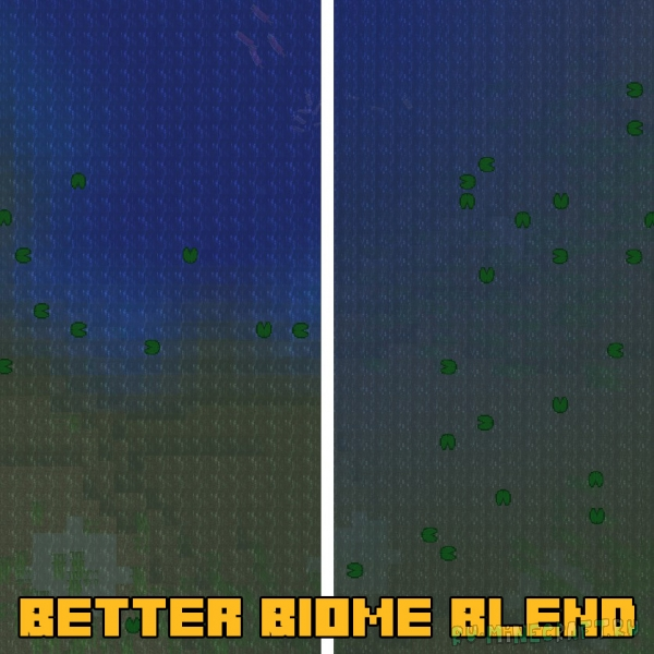 Better Biome Blend - плавные переходы между биомами [1.16.5]