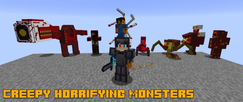 Creepy Horrifying Monsters - жутки монстры-мутанты [1.12.2]