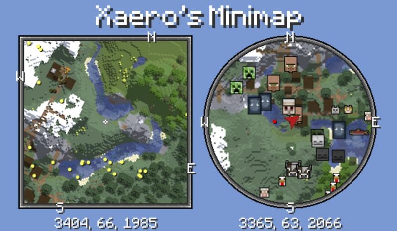 Xaero's Minimap — миникарта [1.17.1] [1.16.5] [1.15.2] [1.14.4] [1.12.2] [1.7.10]