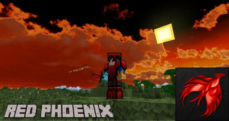 Red Phoenix - ПВП текстурпак красный феникс [1.16.5] [1.15.2] [1.12.2] [1.8.9] [128x]