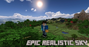 Epic Realistic Sky - реалистичное небо, облака, фон [1.16.5] [1.15.2] [1.12.2] [1.7.10] [2048x]