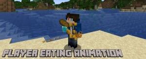 Player Eating Animation - реалистичная анимация поедания [1.16.5]