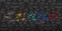 Блок руды в глубинном сланце