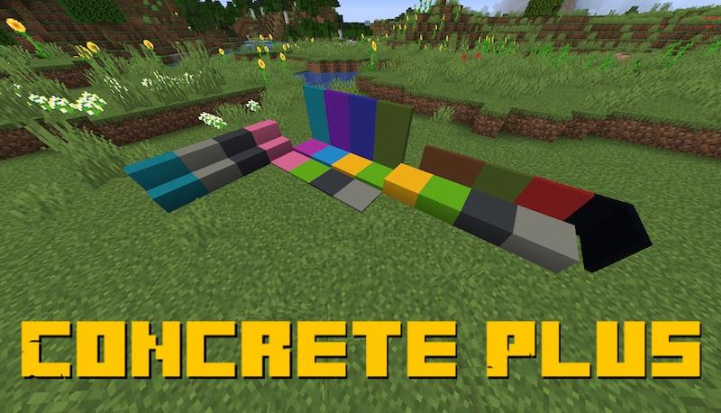 Concrete Plus - больше цементных блоков всех цветов [1.16.5]