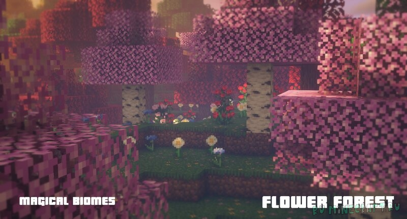 Magical biomes: Forests - красивый лес [1.16.5] [1.15.2] [16x]