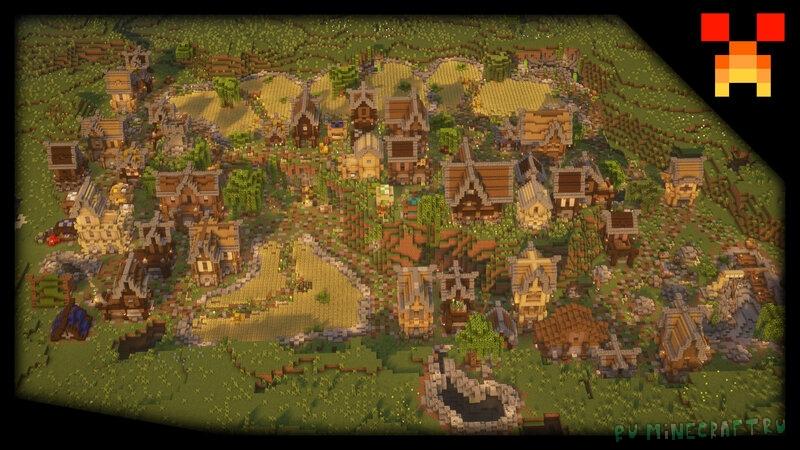 Medium Medieval Town - среднеразмерный средневековый город [1.17] [1.16.5]