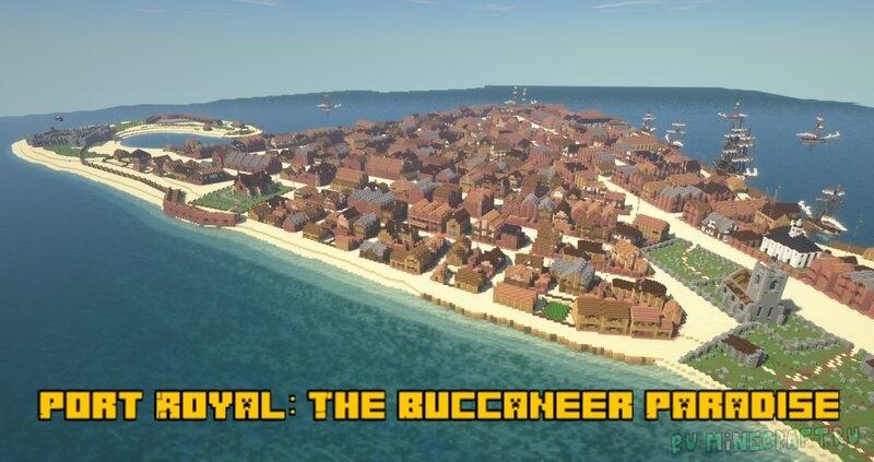 Port Royal: The Buccaneer Paradise - пиратский город на полуострове [1.17] [1.16.5]