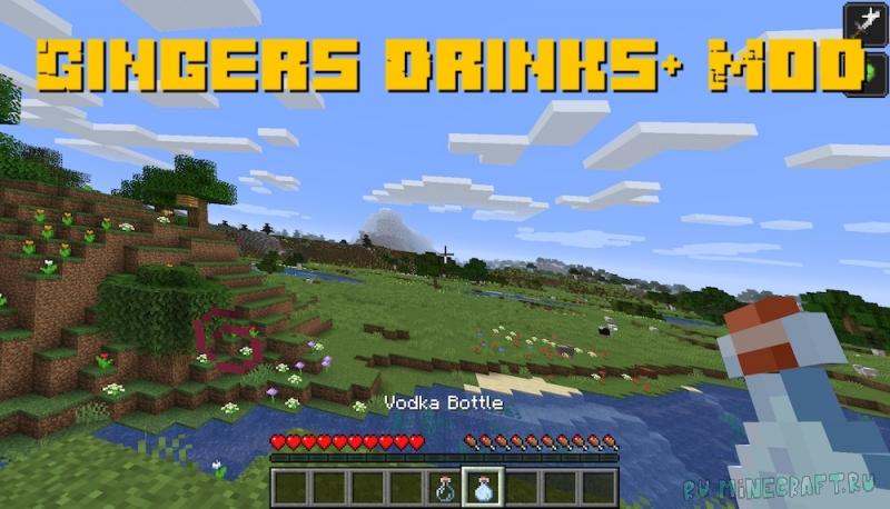 Gingers Drinks+ Mod - различные напитки [1.16.5]