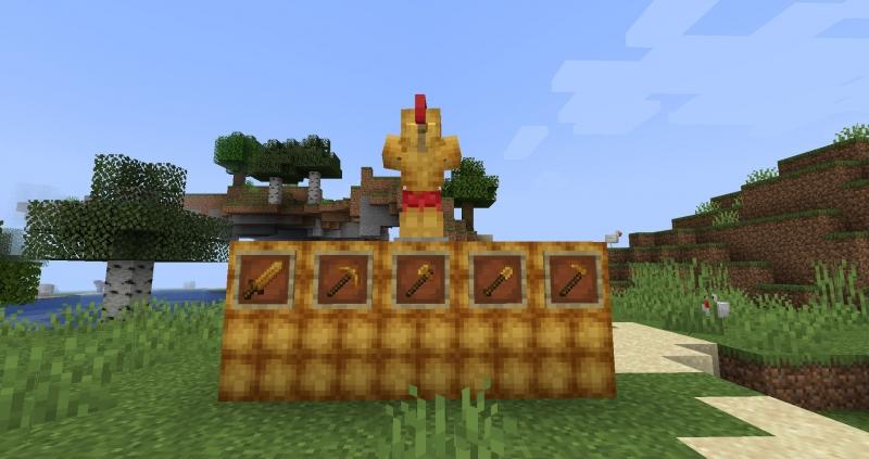 Chicken Nugget - куриные нагетсы, куриная броня, инструмент, блоки [1.16.5] [1.12.2]