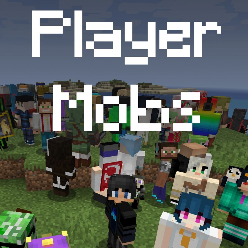 Player Mobs - мобы враждебные игроки [1.16.5]