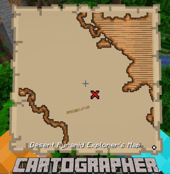 Cartographer - карты сокровищ показывают другие структуры [1.16.5]