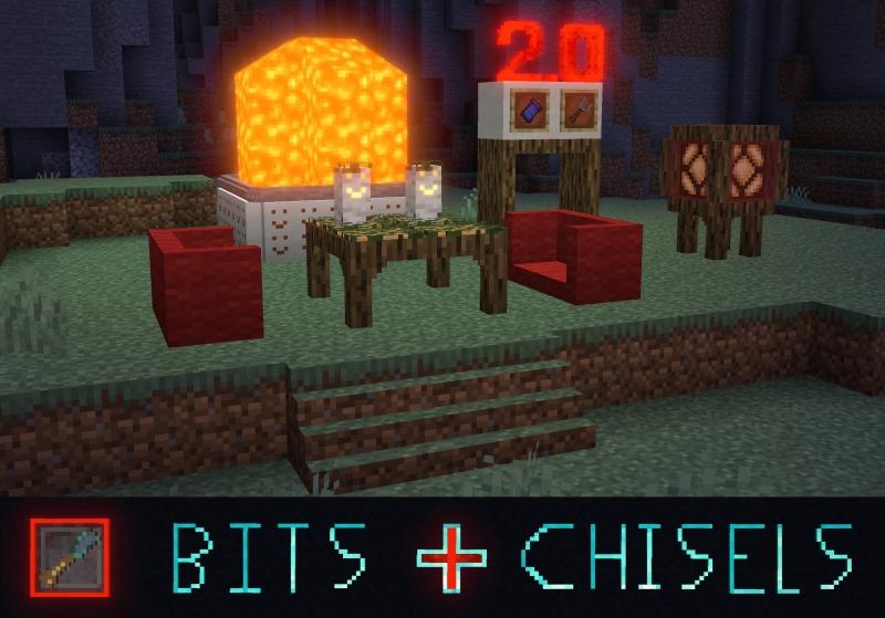 Bits And Chisels - маленькие блоки [1.16.5]