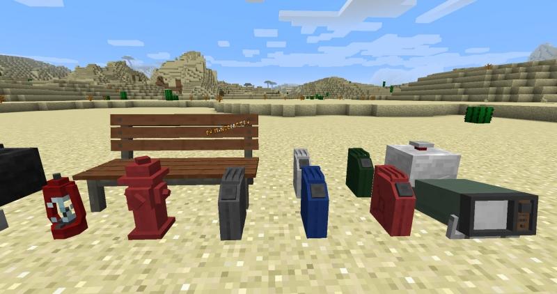 Cactus's Decor Pack - небольшой деrоративный пак для симулятора транспорта [1.12.2]