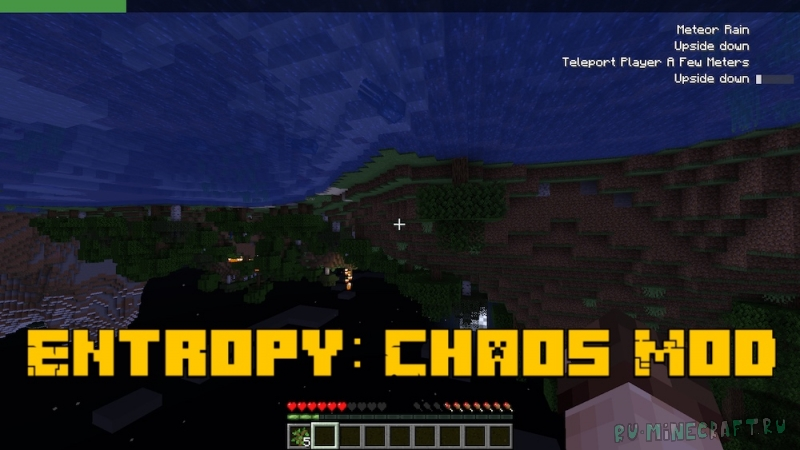 Entropy: Chaos Mod - хаос в майнкрафте [1.17.1] [1.16.5]