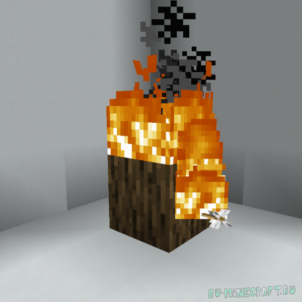 Fire arrows start fire - огненные стрелы устраивают пожар [1.16.5]